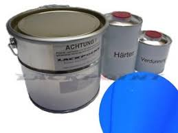 5 liter set 2k car paint ral 5002 ultramarine blue no clear coat