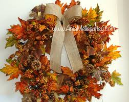 outdoor fall wreath etsy