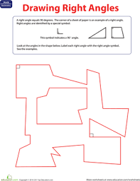 right angle symbol label the right angle worksheet education com