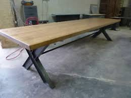 grande table de cuisine grande table de salle manger cuisine salon industrielle 350 a loft
