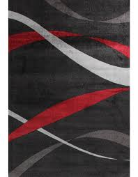 Black Modern Rugs Collection Black Modern Rug 557