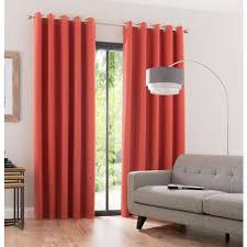Burnt Orange Curtains Burnt Orange Blackout Eyelet Curtains Dunelm