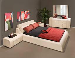bedroom contemporary queen bedroom design with cream sheet