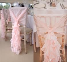ruffled chair covers 2017 2015 blush pink chair sashes chiffon ruffles chair covers