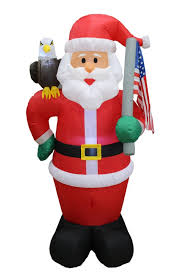 bzb goods patriotic santa claus with eagle