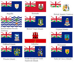image british overseas territories flags with alternate union
