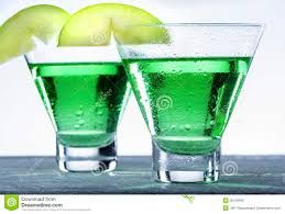 green apple martini cocktail stock image image 36129589