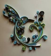 quilled paper art hummingbird handmade artwork
