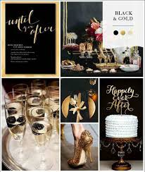 Black Gold Wedding Decorations It U0027s Almost New Years Eve What About A Wedding Black Gold And