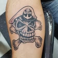 Forearm Skull - us navy skull forearm veteran ink