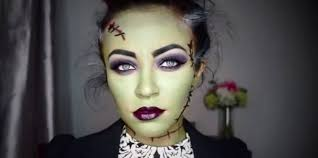 scary halloween makeup women creepy with ripped mouth