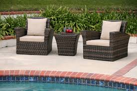 All Weather Wicker Patio Chairs Wicker Patio Furniture Resin Rattan White Grey Cushions