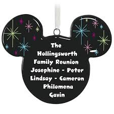 mickey mouse silhouette personalized ornament personalized