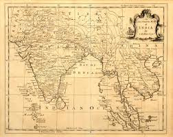 Old Map Old Map Of India And Southeast Asia U2014 Stock Photo Meteor 2187455