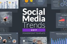 social media trends 2017 powerpoint template by slidehack on