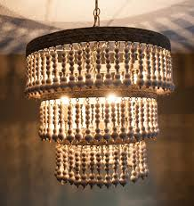 How To Decorate A Chandelier With Beads Best Make Chandeliers Images On Chandeliers Beaded Wooden Beaded