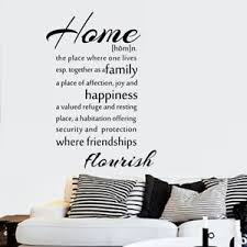 sticker cuisine citation home happiness wall stickers kitchen family vinyl graphic large