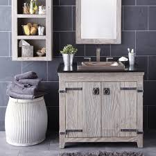 Reclaimed Wood Vanity Table Modish Reclaimed Wood Bathroom Vanities Using White Wash Paint