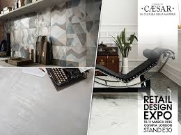 Home Design Expo 2015 Il Gres Porcellato Di Caesar A Retail Design Expo 2015