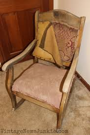 Rocking Chair Seat Replacement The Rescued Rocking Chair How To Reupholster A Chair Tutorial