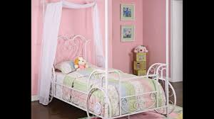 pink canopy bed curtains ideas for princess bedroom youtube