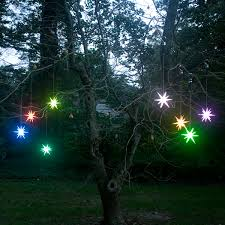 frosted starburst outdoor lighted ornament color changing led