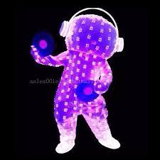 Led Light Halloween Costume Colors Led Flashing Luminous Light Costume Clothing Light