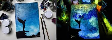glow paint glow in the paint reveals surprises in paintings when lights