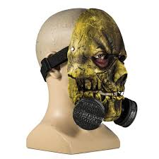 halloween gas mask costume scarecrow mask batman arkham knight pvc half face mask with
