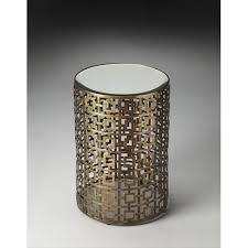 Metal Drum Accent Table Metal Drum End Table Bellacor