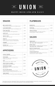 beverage menu union restaurantunion restaurant