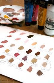 painting flesh tones making the color palette for skin tones a bit