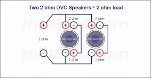 subwoofer wiring diagrams two 2 ohm dual voice coil dvc with