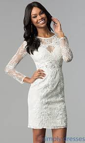 white graduation dresses for 8th grade lace graduation party dress with sleeves