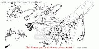 honda xl185s 1992 n singapore wire harness ignition coil c d i