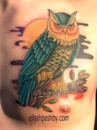 owl tattoo on chest tattoo by elijah pashby tattoos by ap u2026 flickr