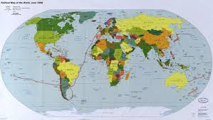 Australian Map Of The World by Alan From Australia