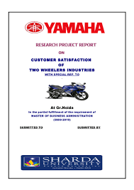 a project report on customer satisfaction of two wheelers industries u2026
