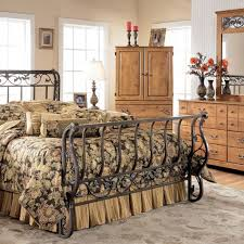 Metal Sleigh Bed Bittersweet Metal Sleigh Bed Signature Design Furniture Cart