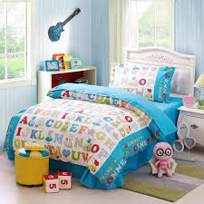 children alphabet cotton twin bedding set learning with reversible