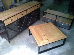 Table De Salon Industrielle by Table Bois Style Industriel Table Repas Style Vintage En Acacia