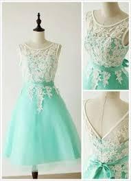 short mint lace bridal party dress mint green vintage chiffon
