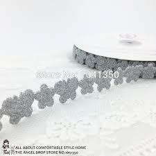 lace ribbon wholesale wholesale 18mm 25 yards silver blue flower butterfly pattern