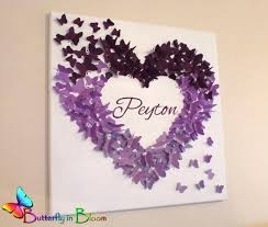 Purple Nursery Wall Decor Purple Nursery Wall Decor Personalized Purple Butterfly Wall