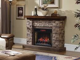 Infrared Electric Fireplace Grand Canyon 28 In Stacked Stone Infrared Electric Fireplace