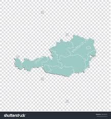 Austria Map Austria Map High Detailed Pastel Color Stock Vector 788184286