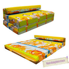 double kids folding guest bed savannah animals sofabed sofa