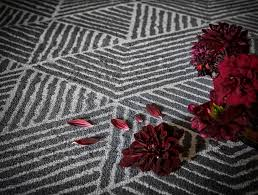add a geometric pattern to the floor with stenlille rug made with