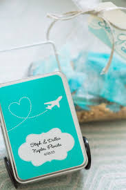 mint wedding favors suitcase inspired mint wedding favors