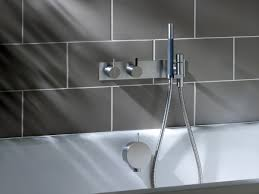 vola wall mounted bath shower mixer u0026 handset elite bathrooms is